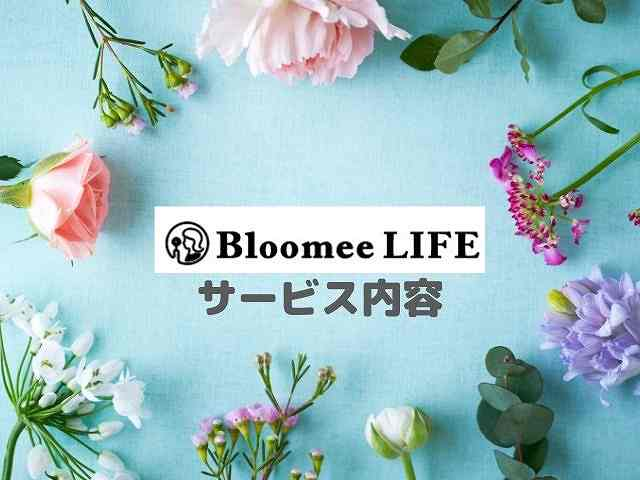 Bloomee(ブルーミー)のサービス内容